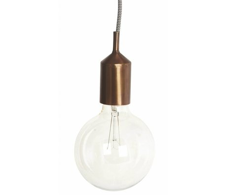 Housedoctor Sierstuk voor fitting, koper metaal Ø4.5x11cm, Cover for sockets Kant copper