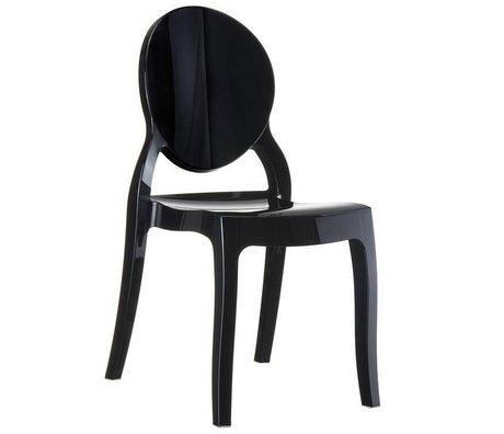 Zuiver Stoel Elizabeth zwart polycarbonate 90x47x50cm voor buiten en binnen