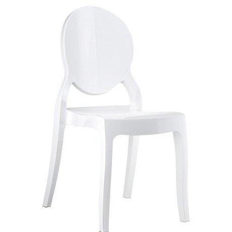 Zuiver Stoel Elizabeth wit polycarbonate 90x47x50cm voor buiten en binnen
