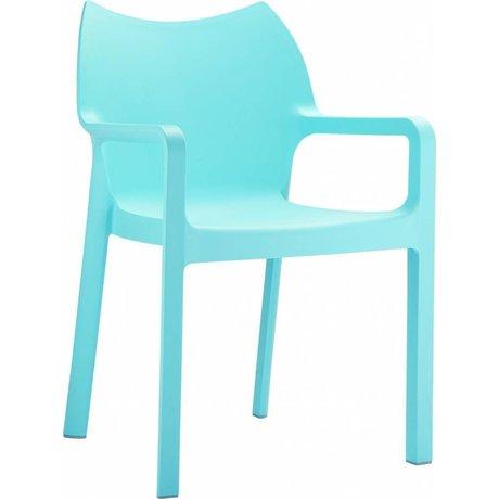 Zuiver Stoel Diva blauw kunststof 84x57x53cm voor buiten en binnen
