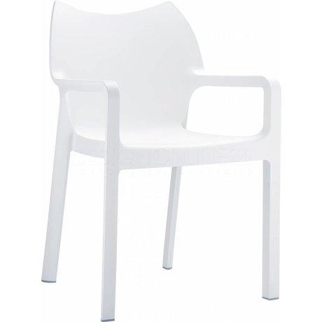 Zuiver Stoel Diva wit kunststof 84x57x53cm voor buiten en binnen