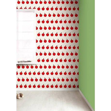 KEK Amsterdam Behang crème/rood Appels 8,3mx47,5cm 4m²