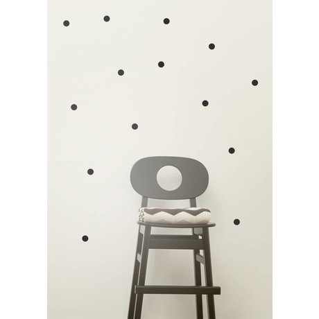 Ferm Living Muursticker mini stippen Wall Stickers - Mini Dots zwart