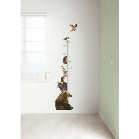 KEK Amsterdam Muursticker groeimeter multicolour 40x150cm Forest Friends Growth Chart 2 muurfolie