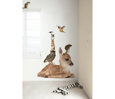 KEK Amsterdam Muursticker multicolour 108x91cm Forest Friends Set Deer XL muurfolie