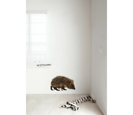 KEK Amsterdam Muursticker multicolour 58x37cm Forest Friend Hedgehog XL muurfolie