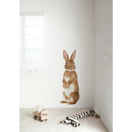 KEK Amsterdam Muursticker multicolour 43x118cm Forest Friend Rabbit XL muurfolie