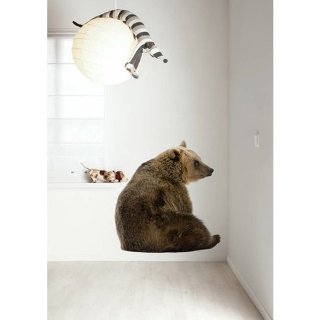 KEK Amsterdam Muursticker multicolour 95x100cm Forest Friend Bear XL muurfolie