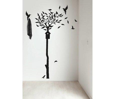 KEK Amsterdam Muursticker/Kapstok zwart 90x240cm Fashion Forest 2 muurfolie