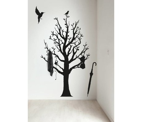 KEK Amsterdam Muursticker/Kapstok zwart 117x190cm Fashion Forest muurfolie