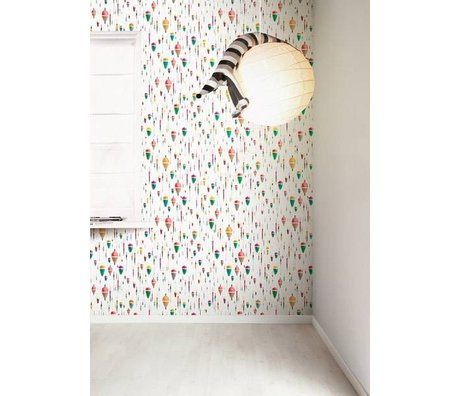 KEK Amsterdam Behang multicolour/wit Dobber 8,3mx47,5cm 4m²
