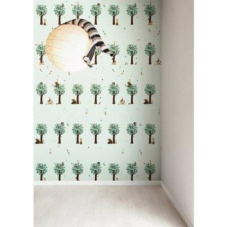 KEK Amsterdam Behang groen Boompjes en Beestjes 8,3mx47,5cm 4m²