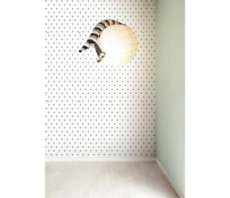 KEK Amsterdam Behang zwart/wit Zwart Witjes 8,3mx47,5cm 4m²