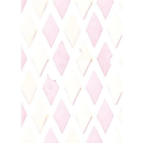 KEK Amsterdam Behang roze/wit Spekjes 8,3mx47,5cm 4m²