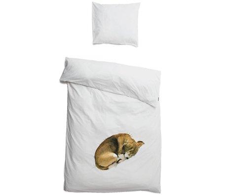 Snurk Beddengoed Dekbedovertrek hond bob in 3 maten wit