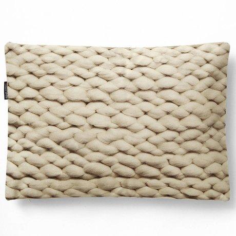 Snurk Beddengoed Sierkussen hoes Twirre natural beige, 35x50cm