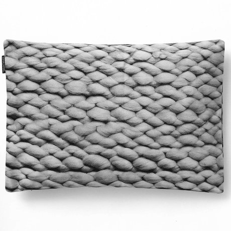 Snurk Beddengoed Sierkussen hoes Twirre elephant grey, 35x50cm, grijs