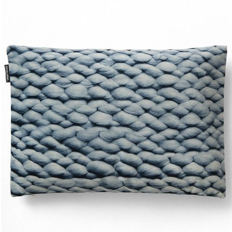 Snurk Beddengoed Sierkussen hoes Twirre ice blue, 35x50cm, blauw