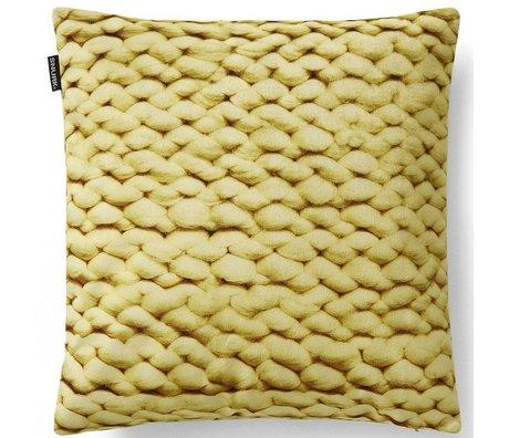Snurk Beddengoed Sierkussen hoes Twirre, citrus yellow, 50x50cm, geel