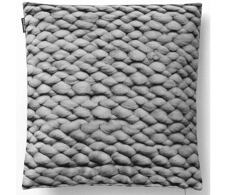 Snurk Beddengoed Sierkussen hoes Twirre, elephant grey, 50x50cm, grijs