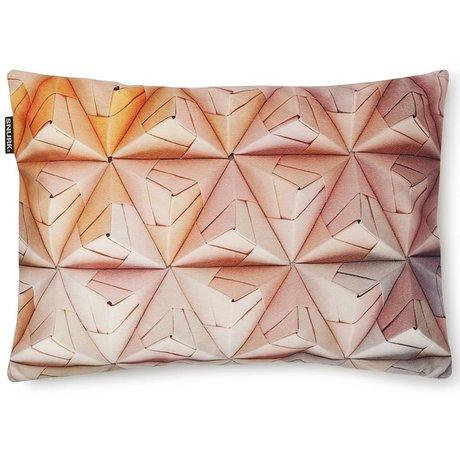 Snurk Beddengoed Sierkussen hoes Geogami roze/ oranje, 35x50cm