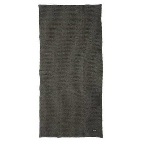 Ferm Living Handdoek grijs organisch katoen 2 maten 50x100cm of 70x140cm, Hand Towel