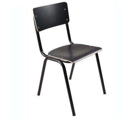 Zuiver Stoel Back to school zwart 43x38x83