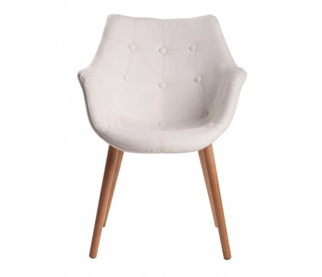 Zuiver Stoel wit kunstleer 79x58x58cm, Chair Eleven white