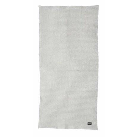 Ferm Living Handdoek 2 maten Hand Towel licht grijs organisch katoen
