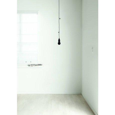 KEK Amsterdam Muursticker 'peertje' zwart folie 7x115 cm, Low Budget Lamp black