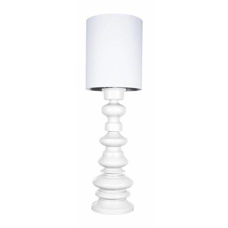 HK-living Vloerlamp wit metaal/ linnen kap135cm, Staande lamp 'Loft'