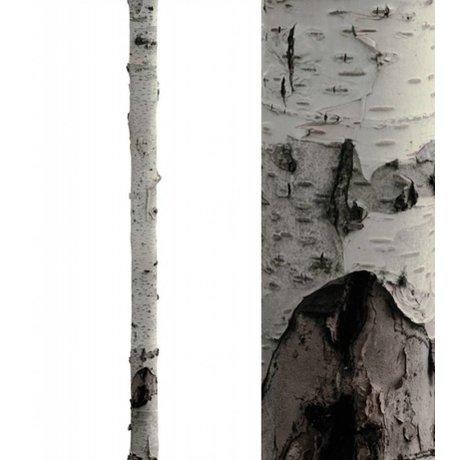 KEK Amsterdam Muursticker boomstam ' Home tree 3' wit/bruin 16x260cm vinyl