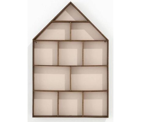 Ferm Living Pronkkastje The Little Dorm roze/bruin 33x50cm