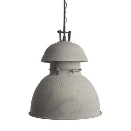 "HK-living Hanglamp grijs mat metaal Ø56cm, Industriële lamp ""Warehouse"" XL"