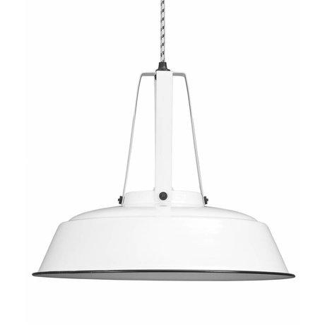 """HK-living Hanglamp wit metaal Ø45cm, Industriële lamp """"Workshop"""" L"""