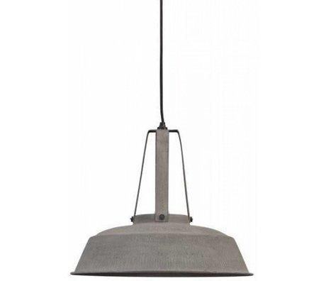 "HK-living Hanglamp grijs mat metaal Ø45cm, Industriële lamp ""Workshop"" L"