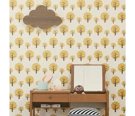 Ferm Living Behang Boompjes geel 10.05mx53cm