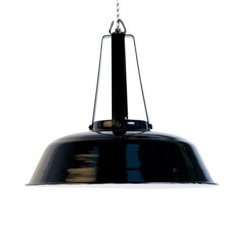 "HK-living Hanglamp zwart metaal Ø45x40cm, Industriële lamp ""Workshop"" L"
