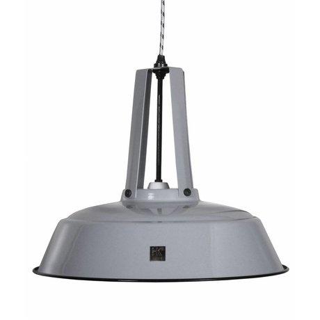 "HK-living Hanglamp grijs metaal Ø45x40cm, Industriële lamp ""Workshop"" L"