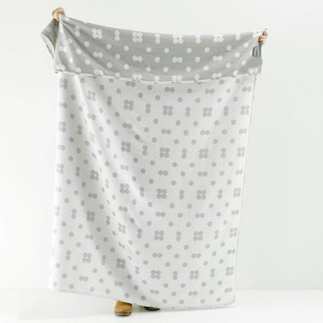 Roomblush Plaid Dots grijs acryl 130x180cm