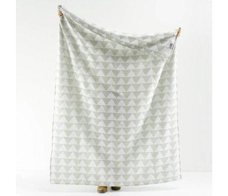 Roomblush Plaid Pyramids grijs acryl 130x180cm