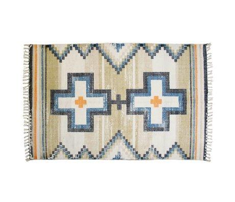 Storebror Vloerkleed Native crosses katoen 180x120cm