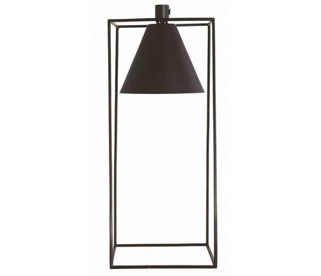 Housedoctor Tafellamp KUBIX zwart wit metaal 18x18x42cm