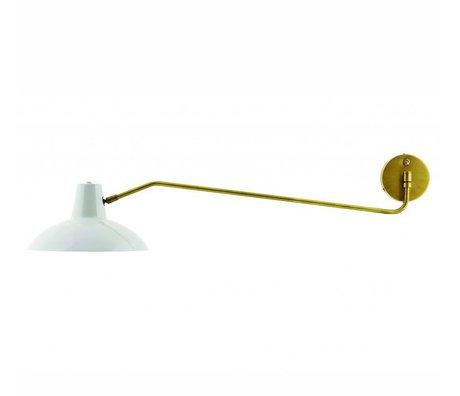 Housedoctor Wandlamp Desk metaal mat grijs goud ø31x104cm