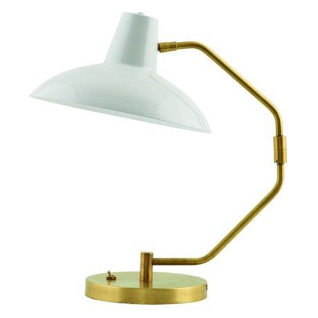 Housedoctor Tafellamp Desk metaal mat grijs goud ø31x48cm
