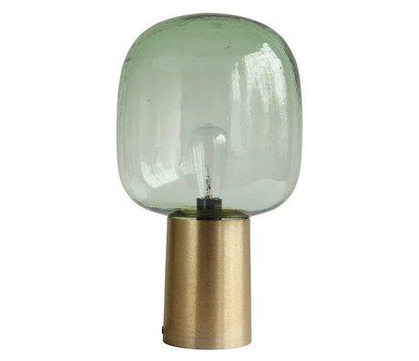 Housedoctor Tafellamp Note groen glas goud aluminium ø28x52cm