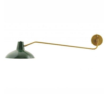 Housedoctor Wandlamp Desk metaal mat groen goud ø31x104cm