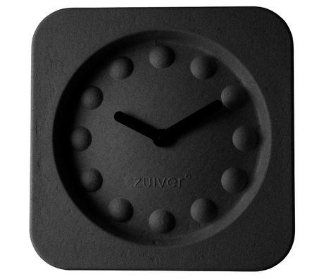 Zuiver Klok Pulp Square zwart met zwarte wijzers 36x36x7cm