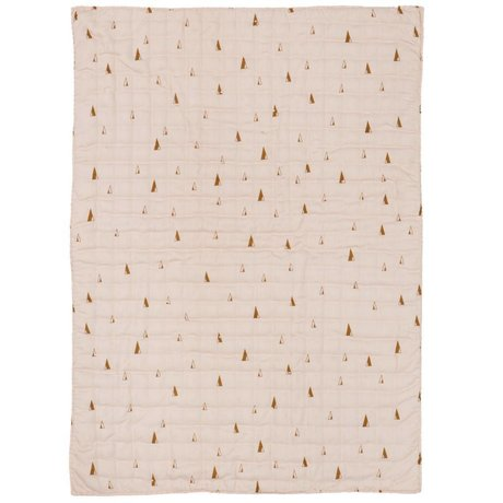 Ferm Living Quilt Cone roze polyester katoen 70x100cm