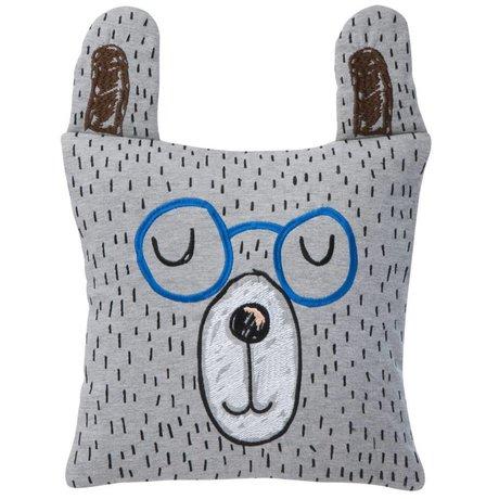 Ferm Living Sierkussen/Knuffel Little Mr. Teddy grijs 30x30cm